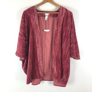 A new day   crushed velvet kimono short sleeve 601